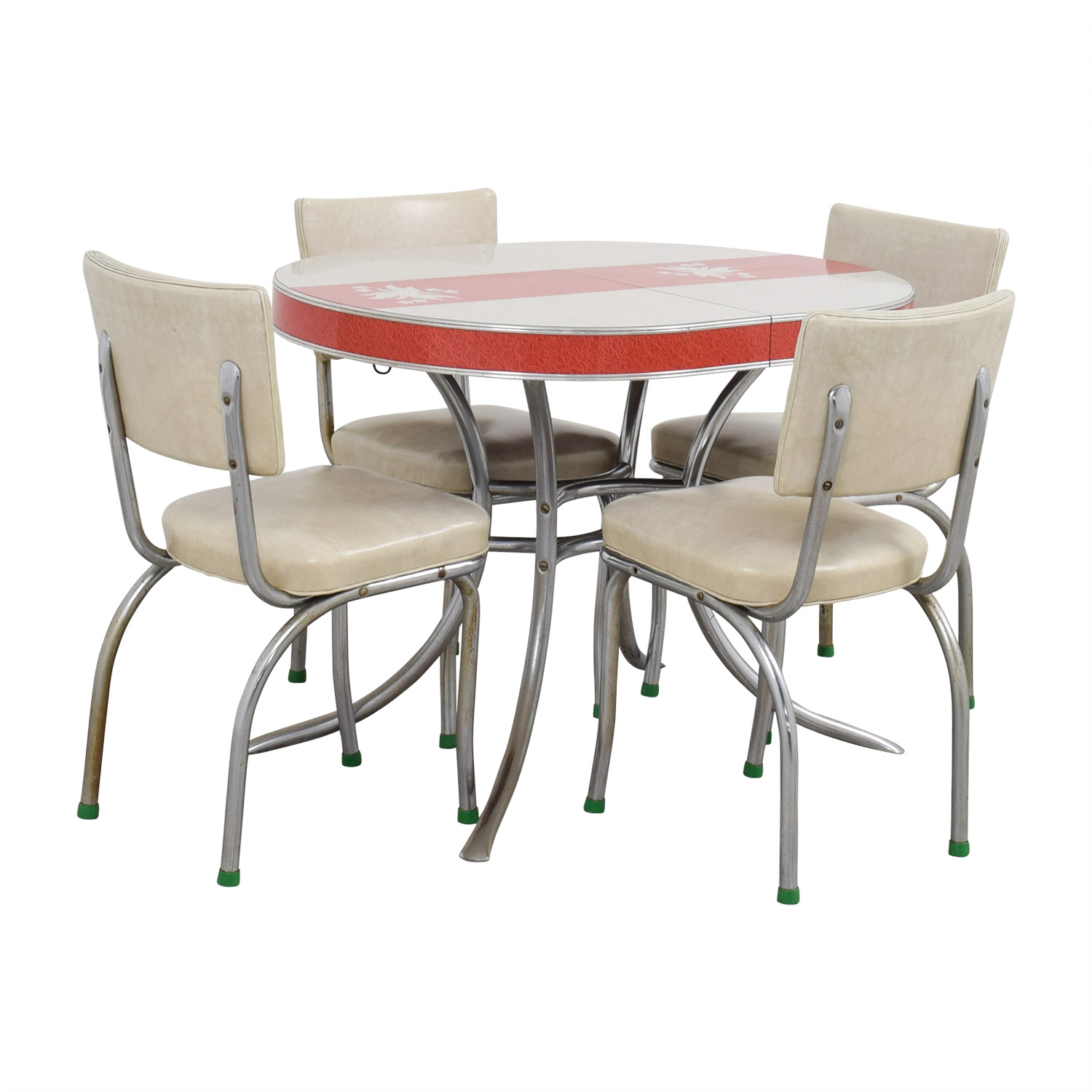 used kitchen chairs small table and canada 90 off vintage extendable formica top aluminum