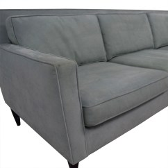 Crate And Barrel Shelter Sofa Dimensions Beton Sofabord Gor Det Selv 90 Off Rochelle Teal