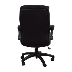 Black Leather Desk Chairs Patriots Bean Bag Chair 62 Off Swivel Office Shop Online