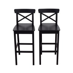 Ikea Wood Chairs Stacking Cafe 42 Off Wooden Barstool