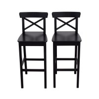 42% OFF - IKEA IKEA Wooden Barstool Chairs / Chairs