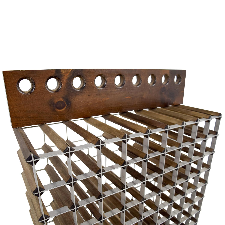 90 OFF  Custom Wood and Metal Wine Rack  Storage