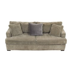 Velvet Grey Sofa Dark Brown Microfiber Home The Honoroak