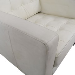 White Leather Chairs For Sale Contemporary Lounge Chair 90 Off Tufted Accent Armchair