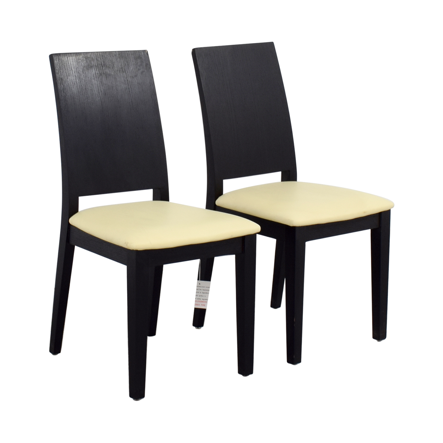 black white dining chair ashley accent chairs 90 off frame with seat
