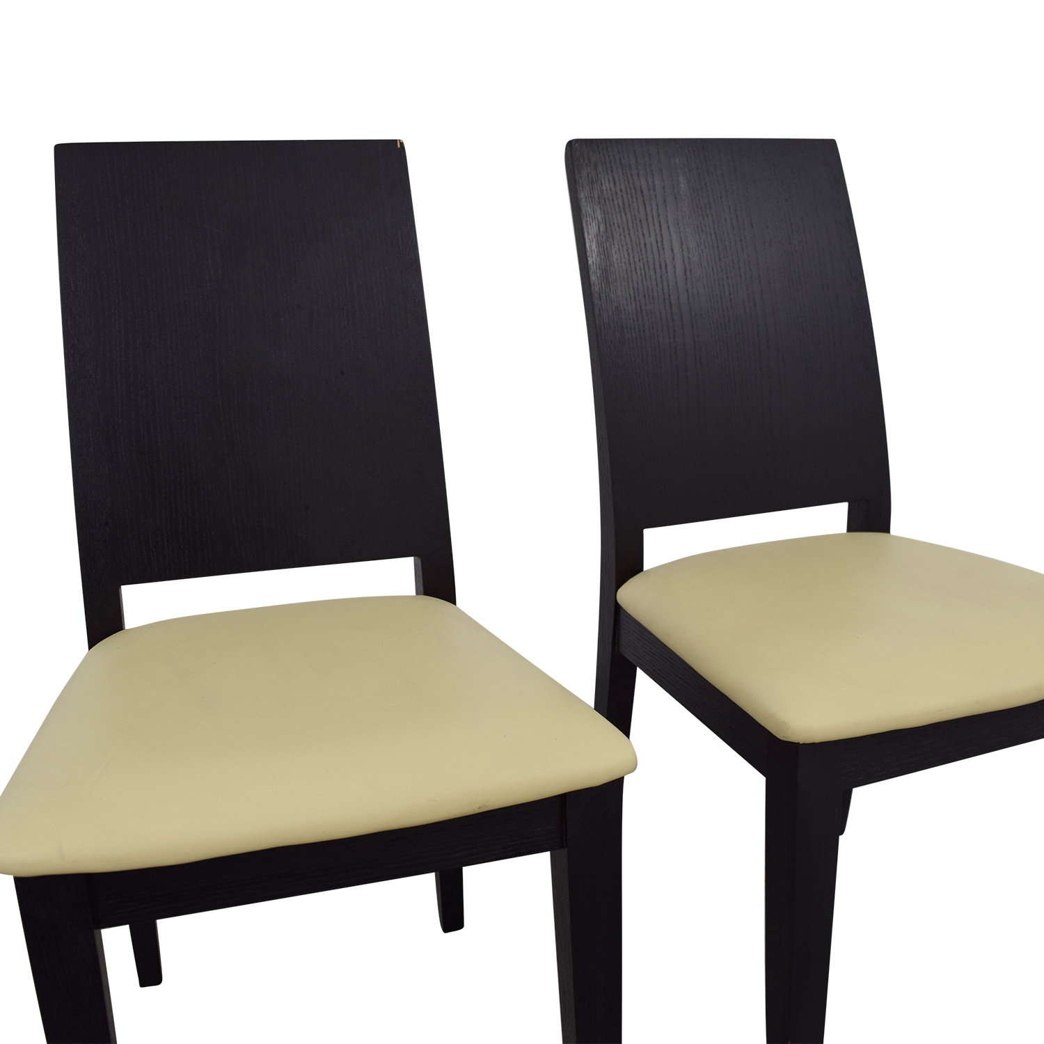 black white dining chair leather recliner 90 off frame with seat chairs