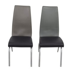 Modern Gray Dining Chairs Zero G Chair Swing 90 Off Esf Black And Grey