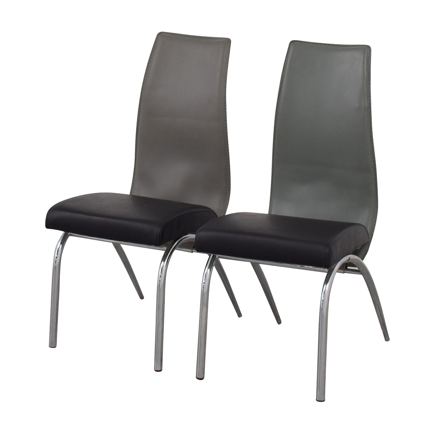 And Black Chairs Silver Dining