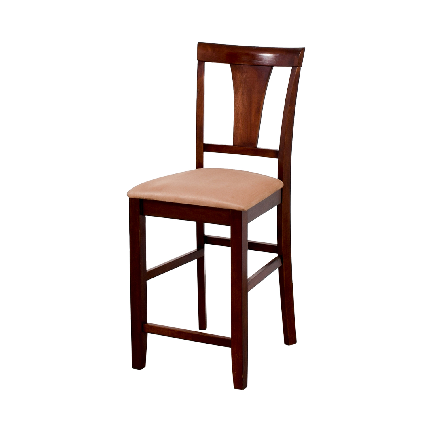 Cherry Wood Dining Chairs 90 Off Light Cherry Wood Counter Height Chair With