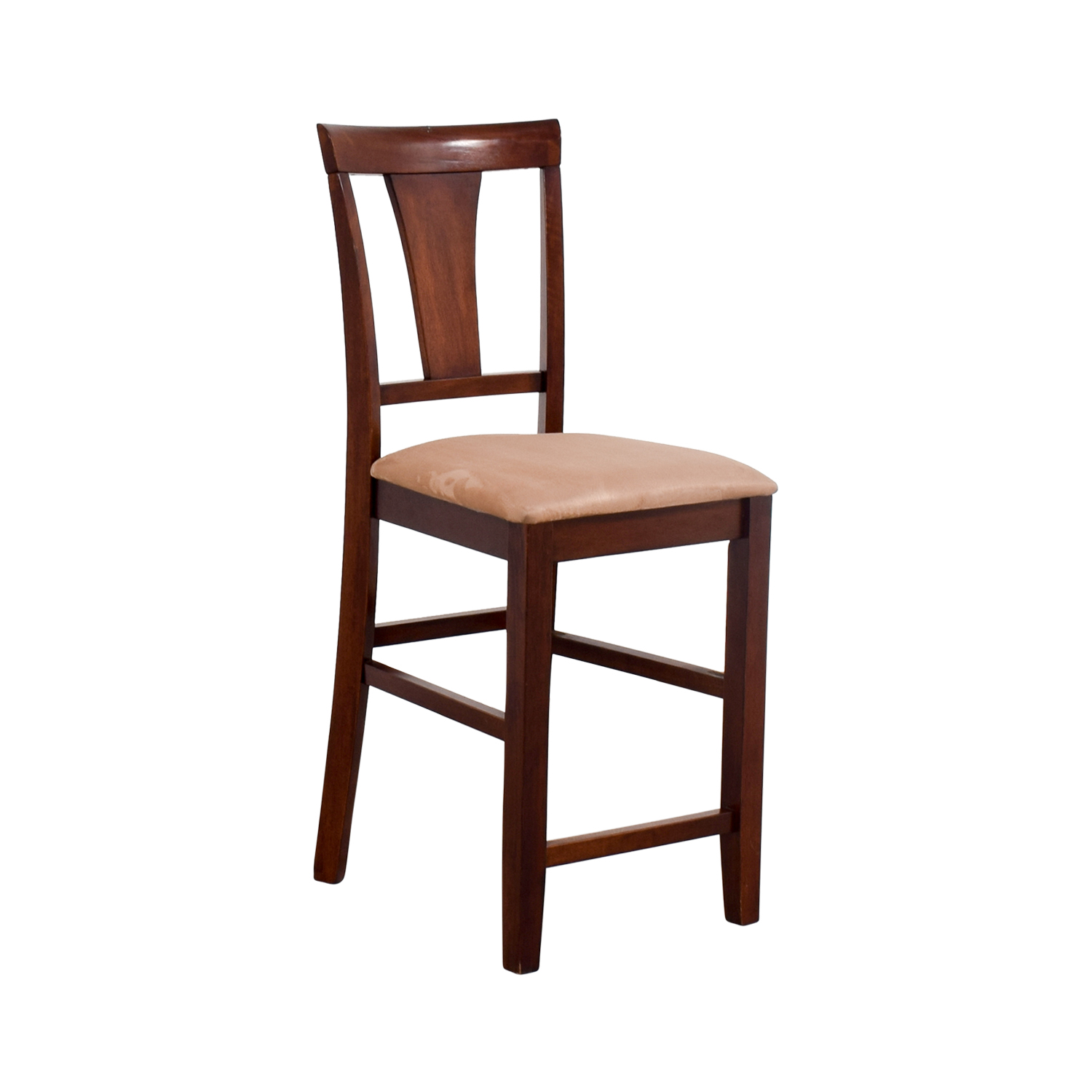light wood dining chairs install chair rail 90 off cherry counter height with