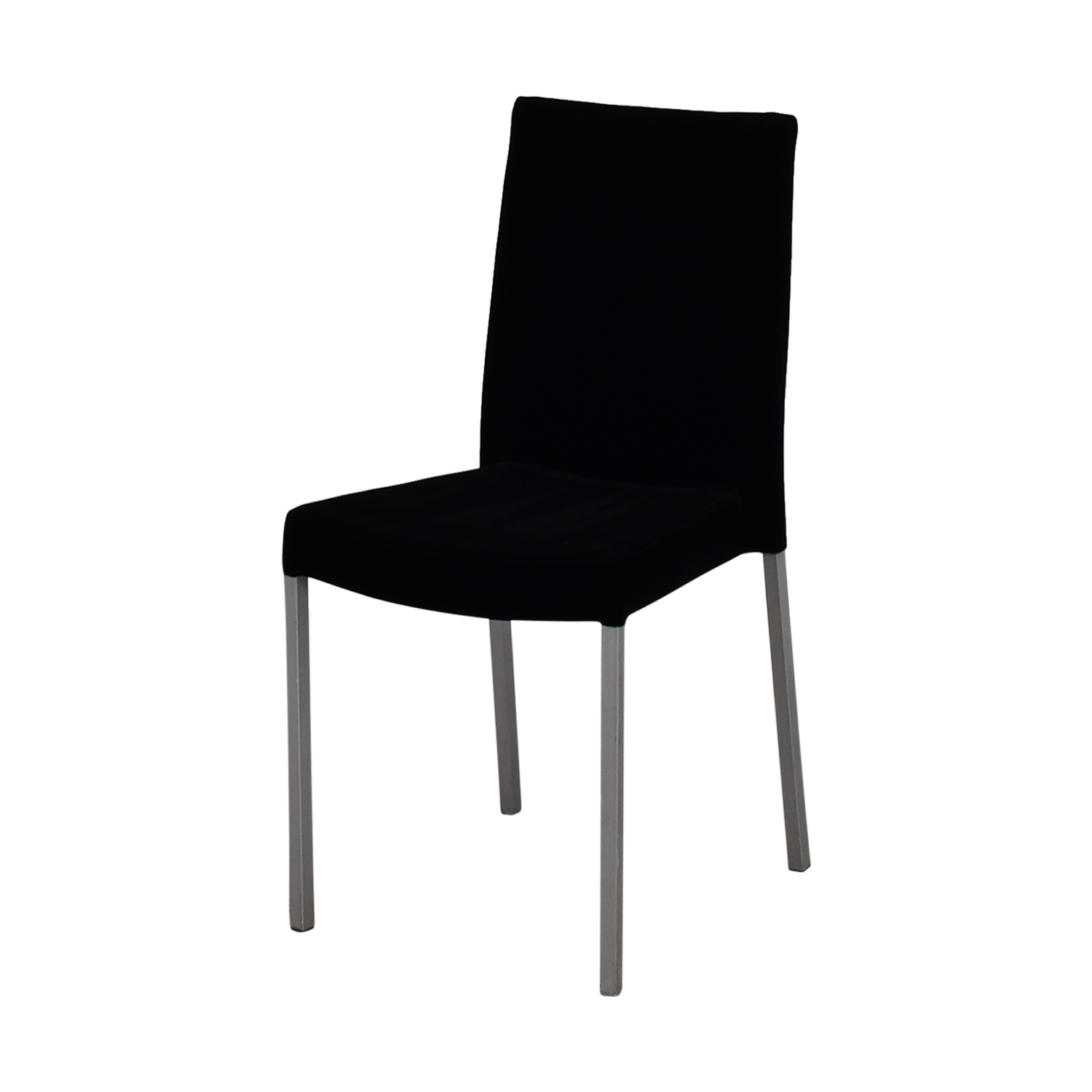 modern aluminum chair covers spandex wholesale 90 off metal and black plush fabric chairs