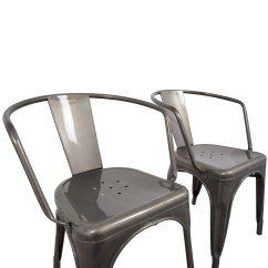Aluminum Dining Chairs Target Ivory Leather With Oak Legs 70 Off Carlisle Metal Chair