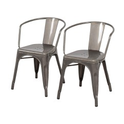 Aluminum Dining Chairs Target Posture Chair Modern 70 Off Carlisle Metal