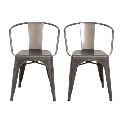 Aluminum Dining Chairs Target Striped Accent With Arms 90 Off Restoration Hardware Vienna