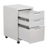 88% OFF - CB2 CB2 TPS White 3-Drawer Filing Cabinet / Storage