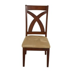 Black Cross Back Dining Chairs Free Office 88 Off Wood Chair With Padded Seat