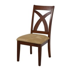Pemberley Cross Back Dining Chair White Quinn Swivel 88 Off Wood With Padded Seat Chairs