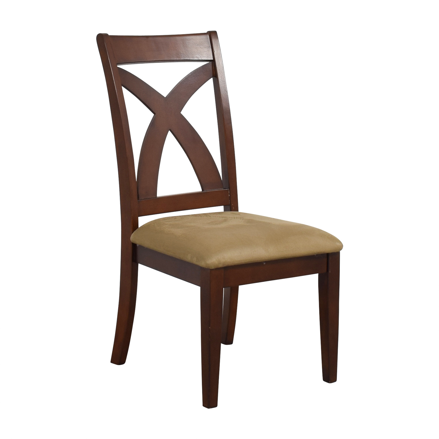 black cross back dining chairs chair covers belfast 88 off wood with padded seat