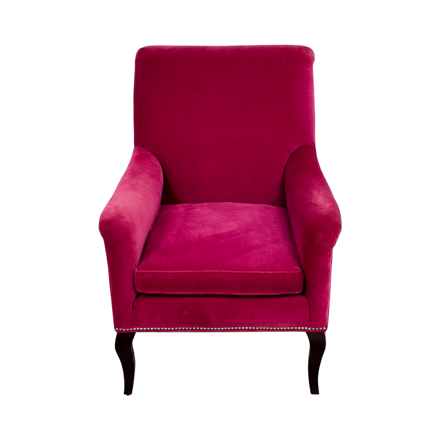 velvet armchair pink living spaces accent chairs 82 off crate and barrel chair