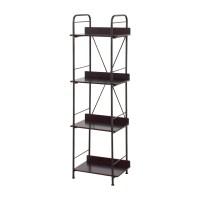 84% OFF - Black Tall Bookcase / Storage