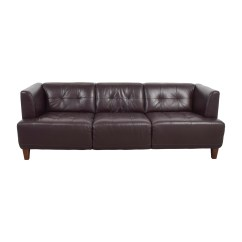 Tufted Brown Leather Sofa 90 Inch Outdoor Cover Chesterfield