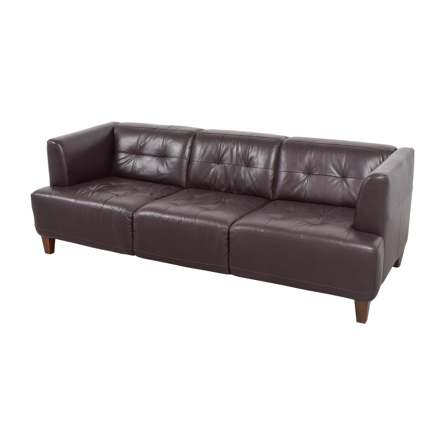 tufted brown leather sofa bianca dimensions 85 off macy 39s couch sofas