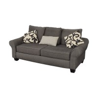 78% OFF - Grey Herringbone Sofa / Sofas