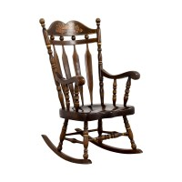 90% OFF - Wood Rocking Chair / Chairs