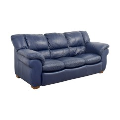 Blue Leather Sofas Modern Sectional Sofa 86 Off Macy 39s Navy Three Cushion