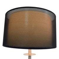 80% OFF - Metal Floor Lamp with Black Shade / Decor