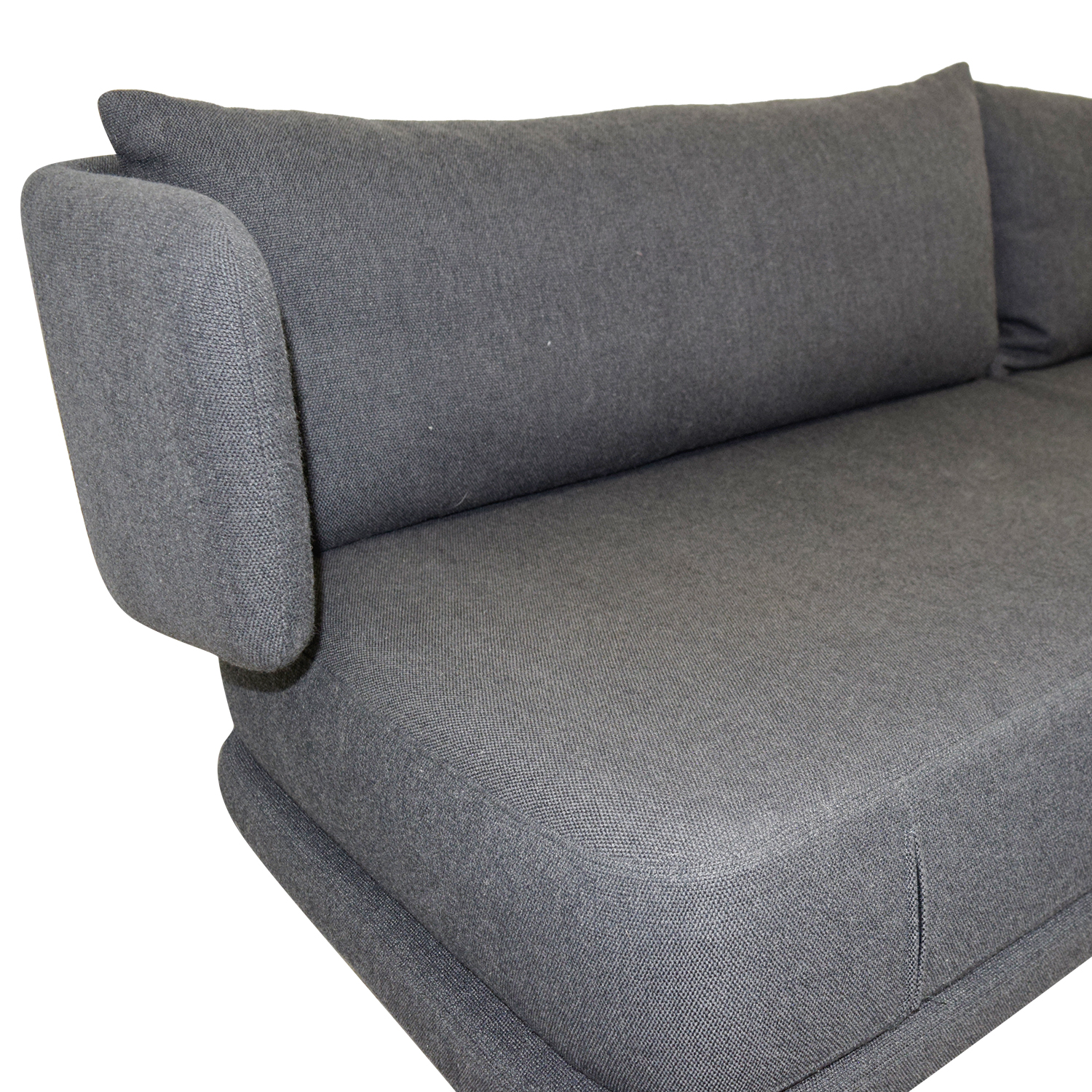 dwr bay sleeper sofa review mini end of bed 74 off design within reach charcoal