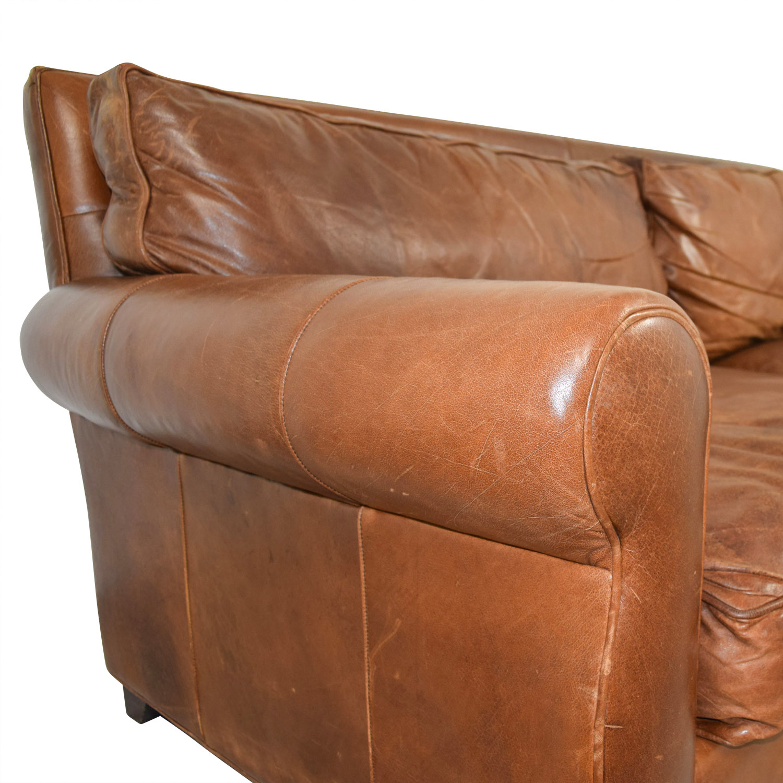 arhaus leather sofa parsons 74 off rust two cushion sofas