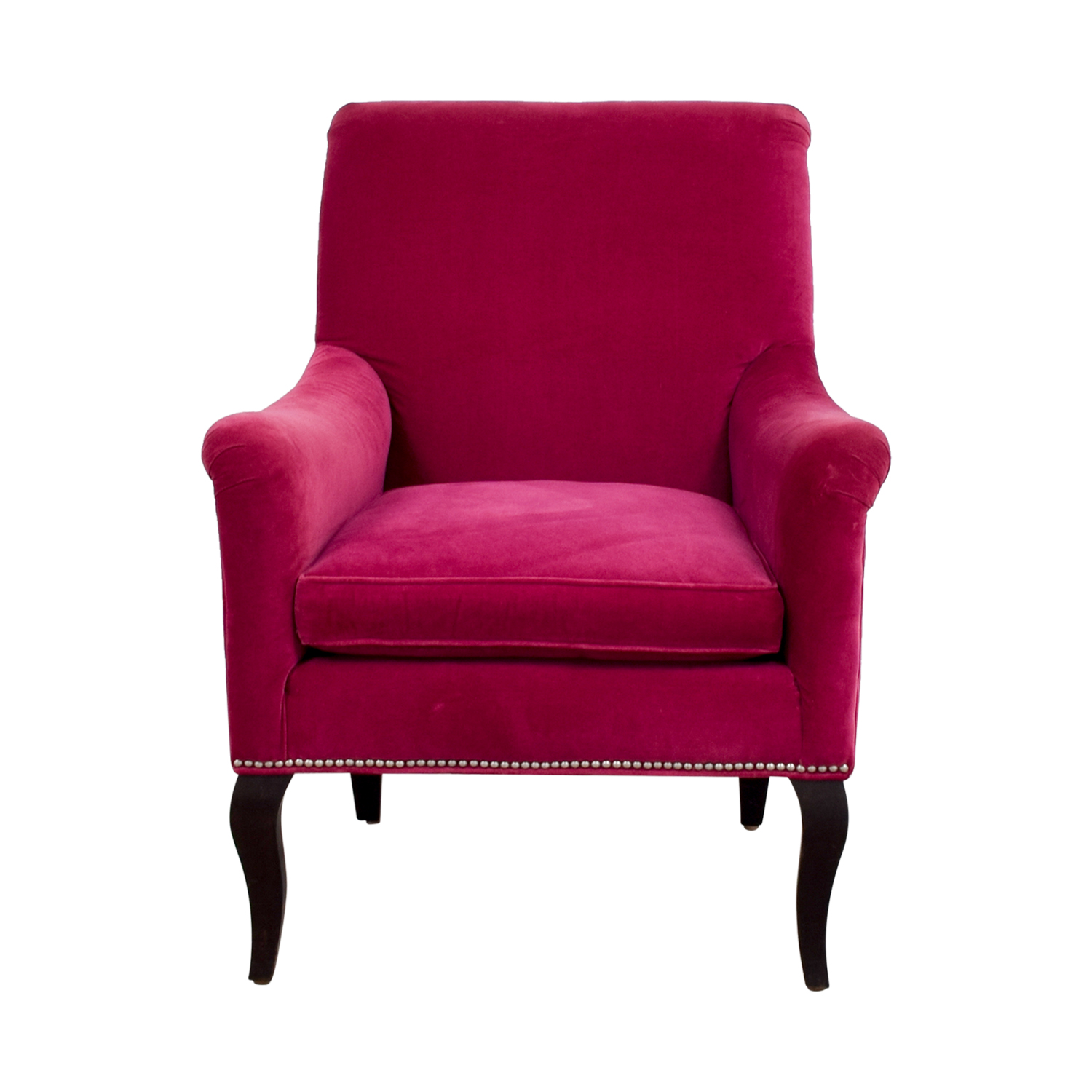 velvet armchair pink modern recliner chairs canada 87 off crate and barrel tux
