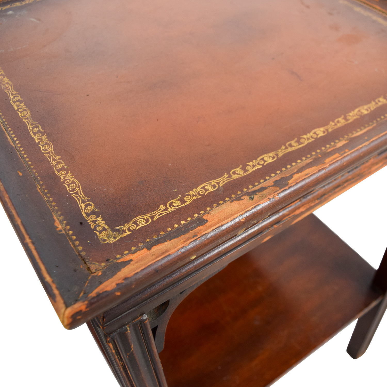 83 OFF  Macys Macys Antique Leather Top End Tables