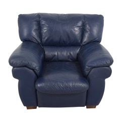 Navy Blue Leather Club Chair Ergonomic No Arms 90 Off Macy 39s Sofa Chairs