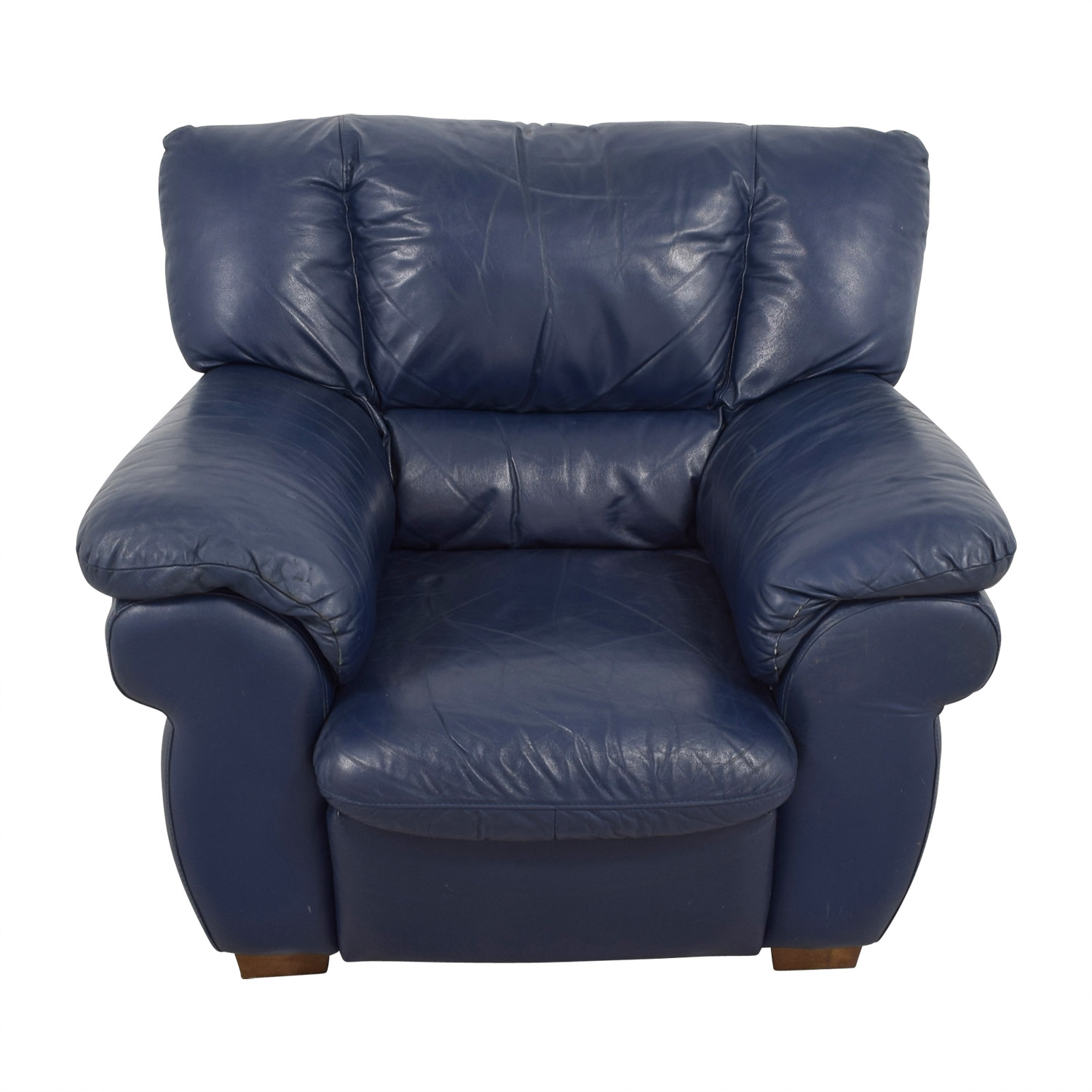 Blue Leather Chair 90 Off Macy 39s Macy 39s Navy Blue Leather Sofa Chair Chairs