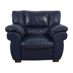 Sofa And Chairs Indoor Rattan Chair With Ottoman 90 Off Macy 39s Navy Blue Leather