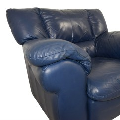 Navy Blue Leather Club Chair Jungle Animal Chairs 90 Off Macy 39s Sofa