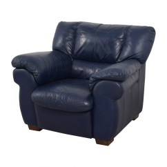 Navy Blue Leather Club Chair Baby Nursery Rocking 90 Off Macy 39s Sofa Chairs