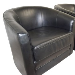 Black Leather Accent Chairs Hydraulic Styling 85 Off Bob 39s Furniture