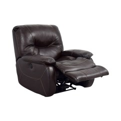Used Recliner Chairs Alera Elusion Chair Manual 86 Off Dark Brown Leather Motorized