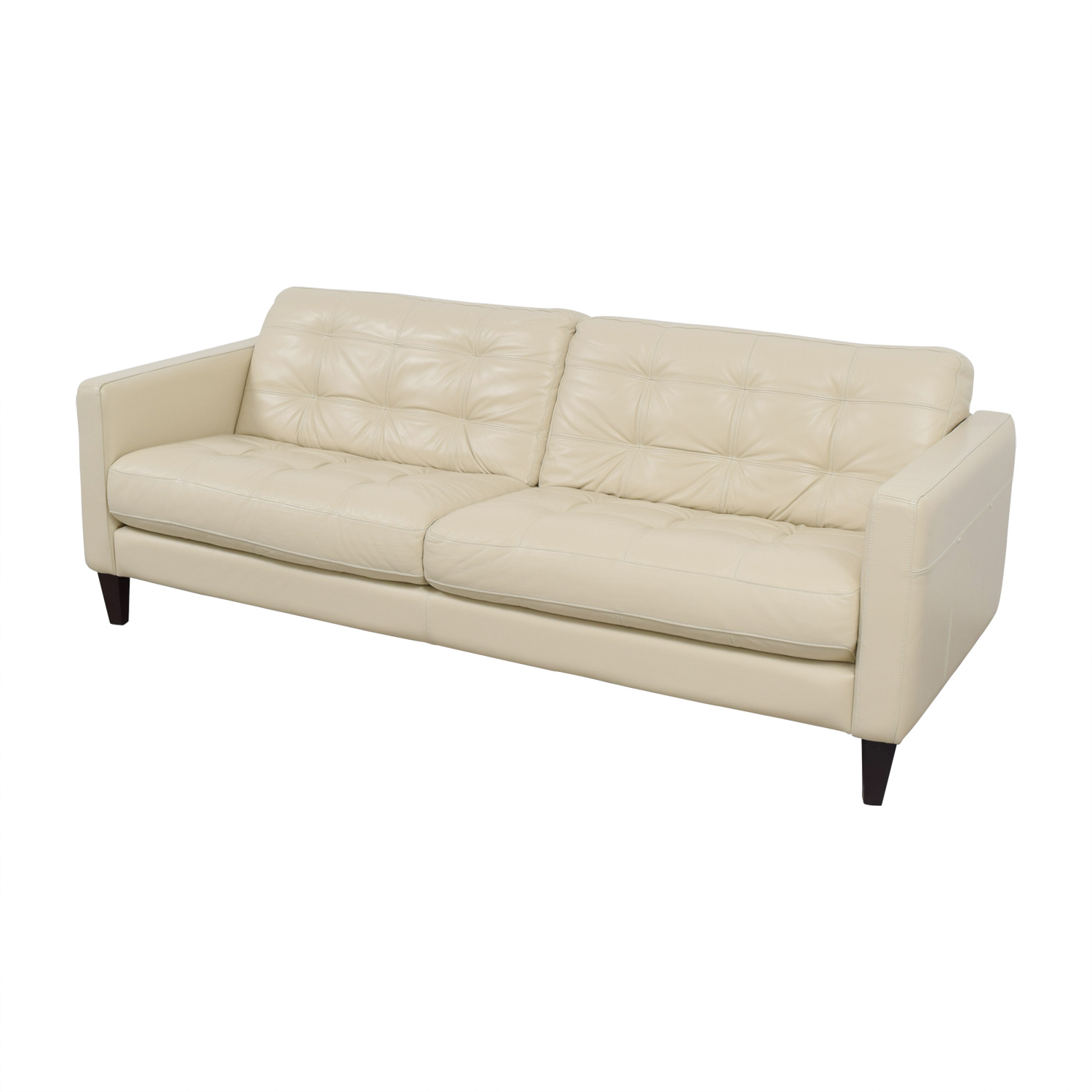 white leather sofa cheap glides for carpet 48 off macy 39s tufted sofas