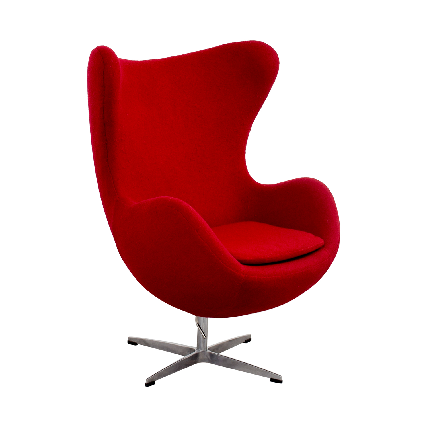 Used Egg Chair 72 Off Red And Chrome Egg Chair Chairs