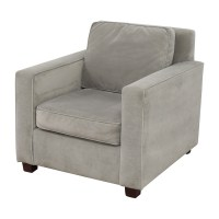 78% OFF - West Elm West Elm Grey Armchair / Chairs