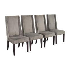 West Elm Chairs Dining Leather With Ottoman 82 Off Velvet