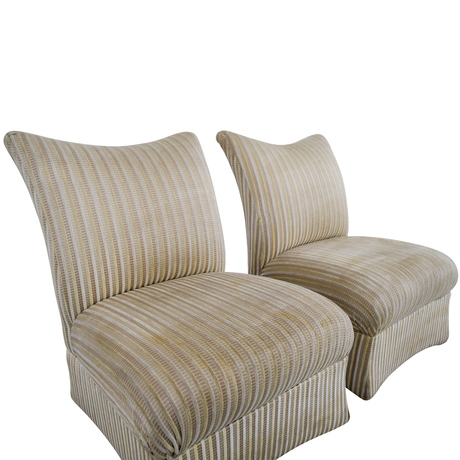 ethan allen recliners chairs doc mcstuffins chair and table set 90 off striped accent