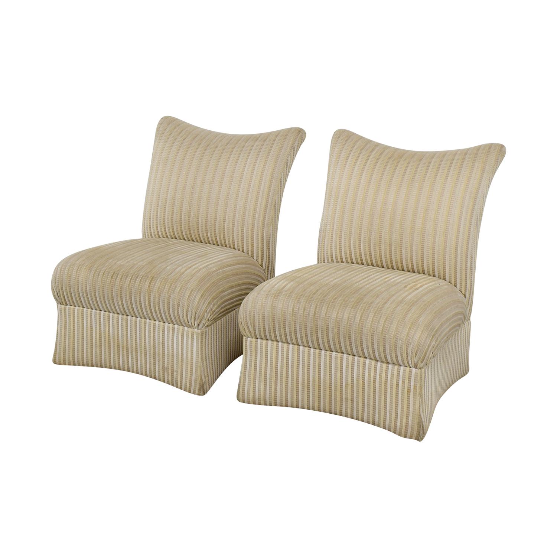 ethan allen recliners chairs wheelchair van rental 90 off striped accent