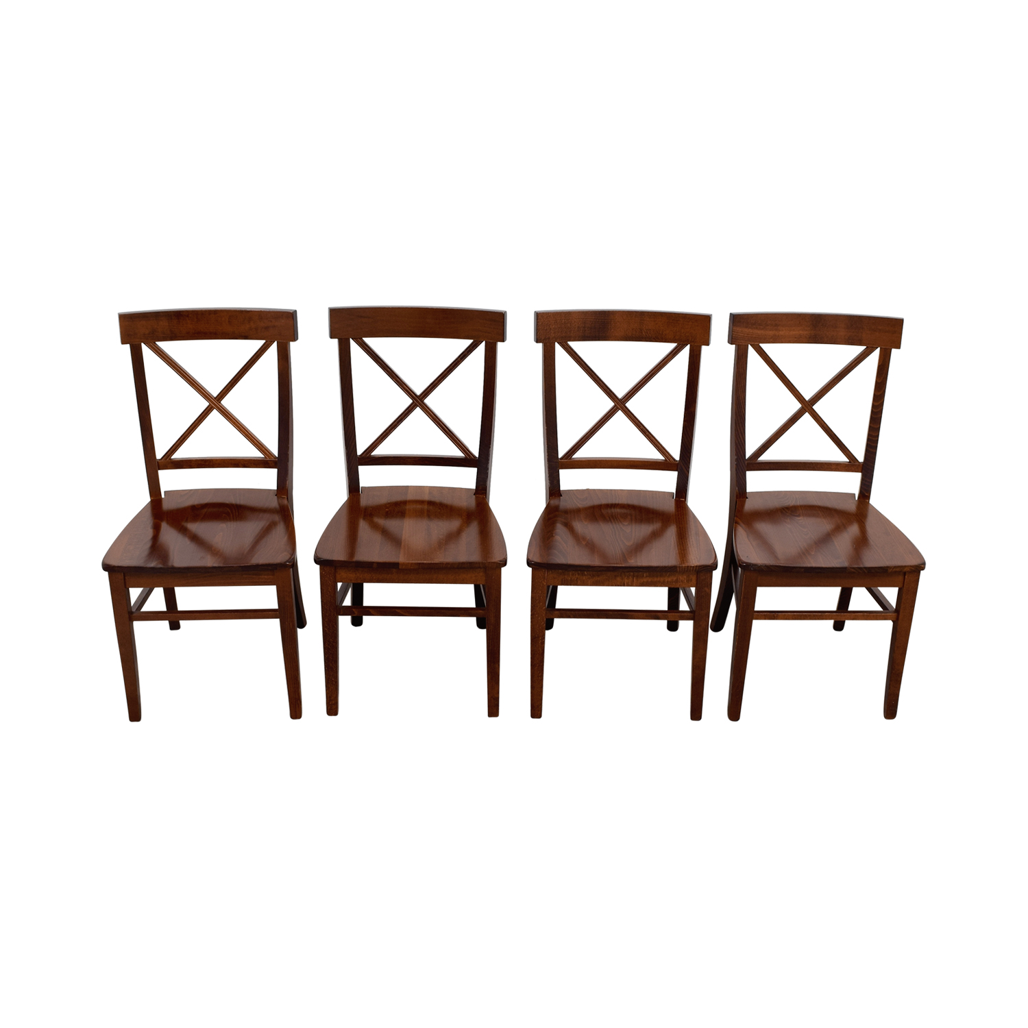 pottery barn chairs dining lane furniture leather office chair 84 off aaron wood