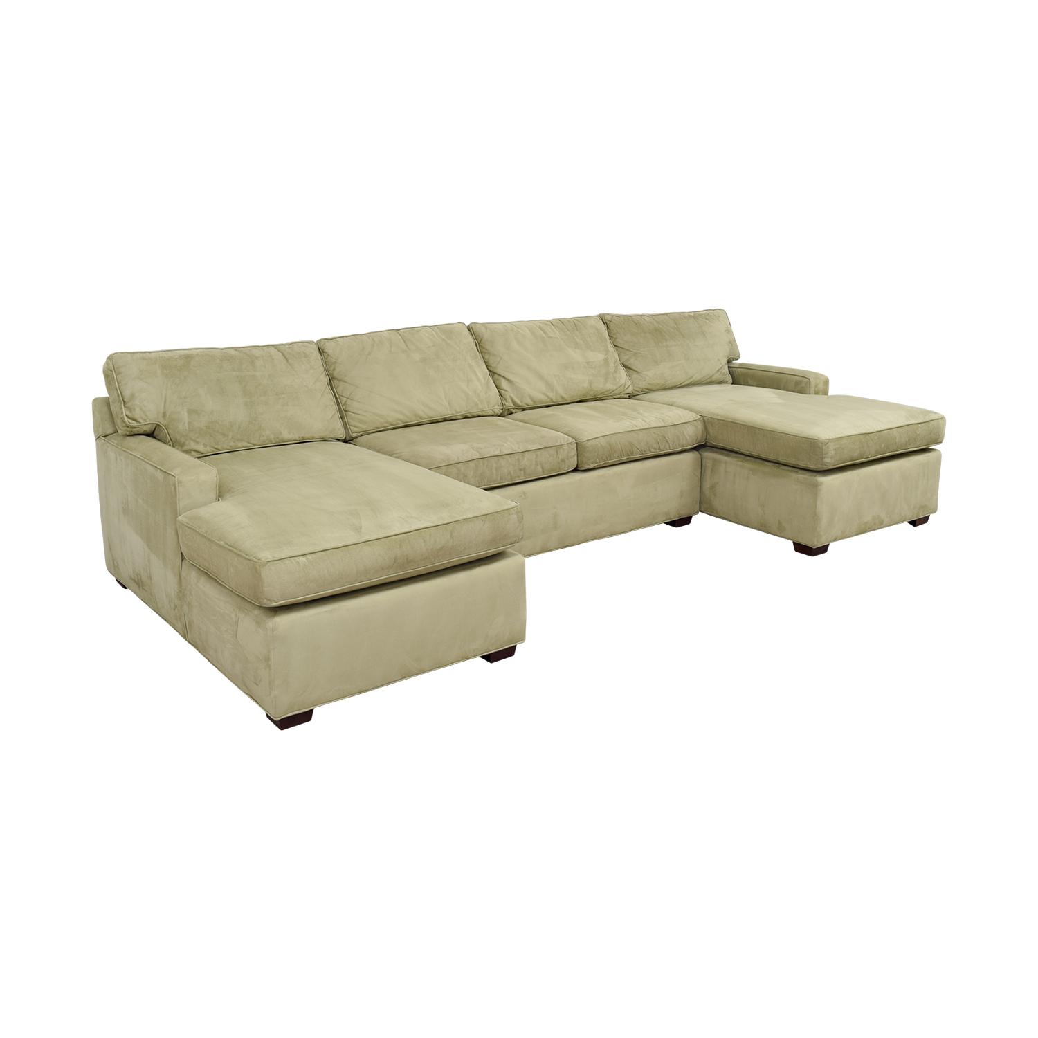 pottery barn chaise sofa sectional monroe 3 seater bed 86 off double light