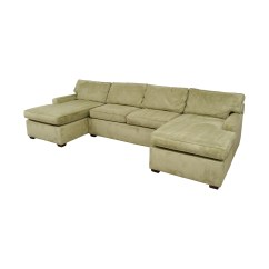 Pottery Barn Chaise Sofa Sectional How High Should A Table Be 86 Off Double Light